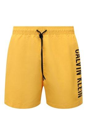 Мужские плавки-шорты CALVIN KLEIN желтого цвета, арт. KM0KM00570 | Фото 1