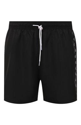 Мужские плавки-шорты CALVIN KLEIN черного цвета, арт. KM0KM00573   Фото 1 (Материал внешний: Синтетический материал; Принт: Без принта)