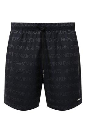 Мужские плавки-шорты CALVIN KLEIN темно-серого цвета, арт. KM0KM00575   Фото 1 (Материал внешний: Синтетический материал)