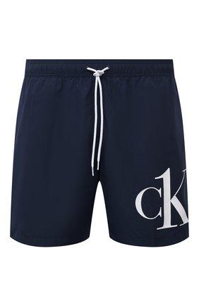 Мужские плавки-шорты CALVIN KLEIN темно-синего цвета, арт. KM0KM00590 | Фото 1