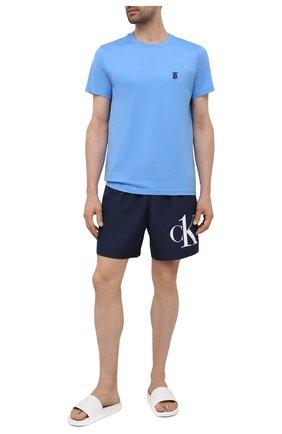 Мужские плавки-шорты CALVIN KLEIN темно-синего цвета, арт. KM0KM00590 | Фото 2