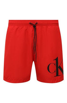Мужские плавки-шорты CALVIN KLEIN красного цвета, арт. KM0KM00590 | Фото 1