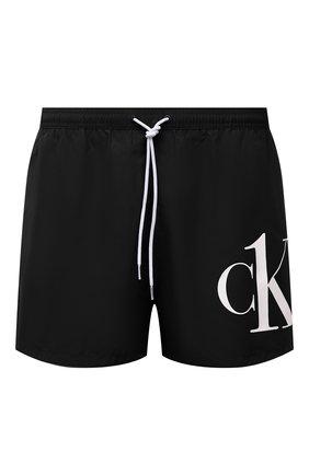 Мужские плавки-шорты CALVIN KLEIN черного цвета, арт. KM0KM00591 | Фото 1