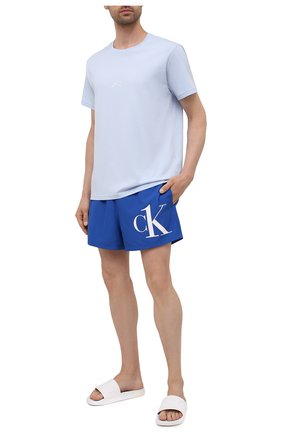 Мужские плавки-шорты CALVIN KLEIN синего цвета, арт. KM0KM00591 | Фото 2