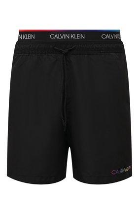 Мужские плавки-шорты CALVIN KLEIN черного цвета, арт. KM0KM00645   Фото 1 (Материал внешний: Синтетический материал)