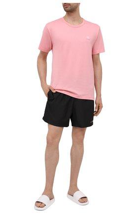 Мужские плавки-шорты CALVIN KLEIN черного цвета, арт. KM0KM00645   Фото 2 (Материал внешний: Синтетический материал)