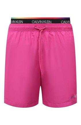 Мужские плавки-шорты CALVIN KLEIN розового цвета, арт. KM0KM00645 | Фото 1
