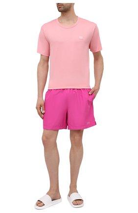 Мужские плавки-шорты CALVIN KLEIN розового цвета, арт. KM0KM00645 | Фото 2