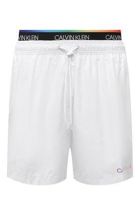 Мужские плавки-шорты CALVIN KLEIN белого цвета, арт. KM0KM00645 | Фото 1 (Материал внешний: Синтетический материал)
