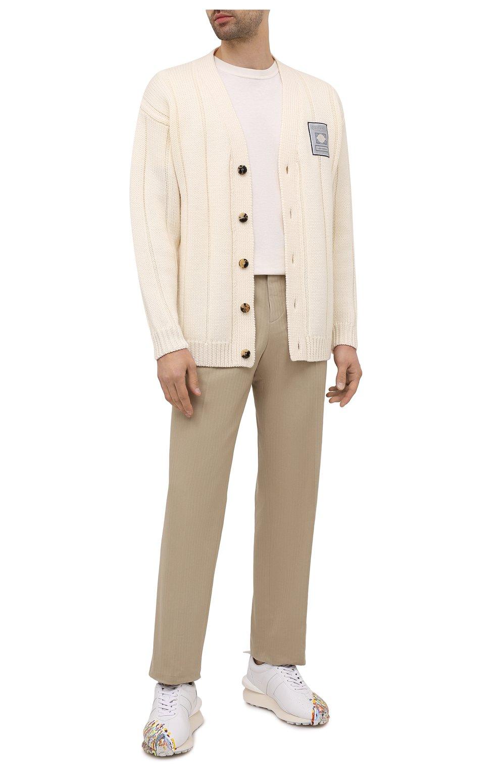 Мужские кожаные кроссовки lanvin x gallery dept LANVIN белого цвета, арт. FM-SKBRUC-SGGD-E21   Фото 2 (Материал внутренний: Натуральная кожа; Стили: Гранж; Подошва: Массивная)