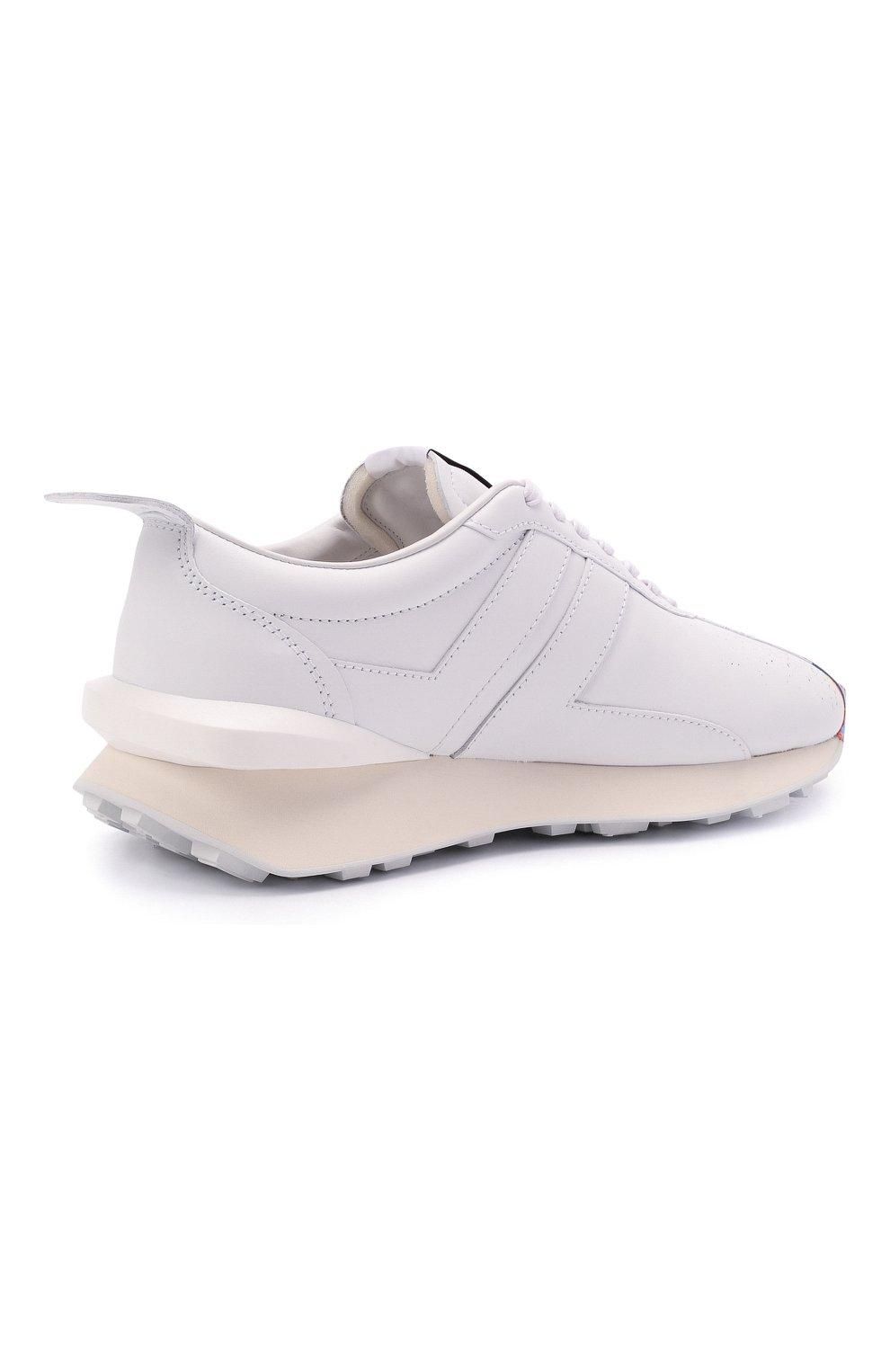 Мужские кожаные кроссовки lanvin x gallery dept LANVIN белого цвета, арт. FM-SKBRUC-SGGD-E21   Фото 4 (Материал внутренний: Натуральная кожа; Стили: Гранж; Подошва: Массивная)