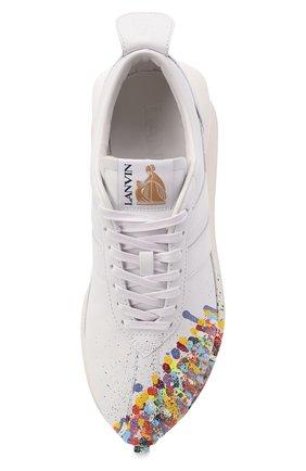 Мужские кожаные кроссовки lanvin x gallery dept LANVIN белого цвета, арт. FM-SKBRUC-SGGD-E21   Фото 5 (Материал внутренний: Натуральная кожа; Стили: Гранж; Подошва: Массивная)