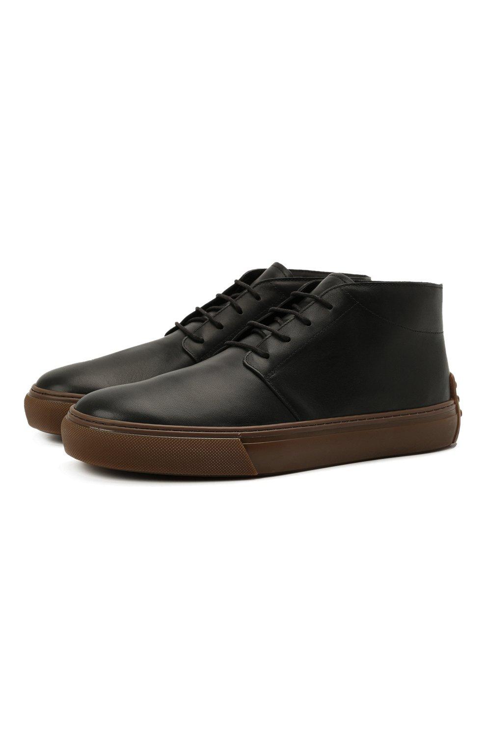 Мужские кожаные ботинки TOD'S черного цвета, арт. XXM03E0EA50JUS | Фото 1 (Мужское Кросс-КТ: Ботинки-обувь, Дезерты-обувь; Материал внутренний: Натуральная кожа; Подошва: Массивная)