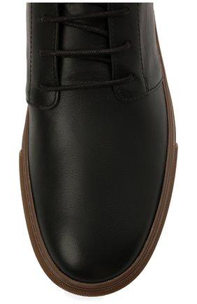 Мужские кожаные ботинки TOD'S черного цвета, арт. XXM03E0EA50JUS | Фото 5 (Мужское Кросс-КТ: Ботинки-обувь, Дезерты-обувь; Материал внутренний: Натуральная кожа; Подошва: Массивная)