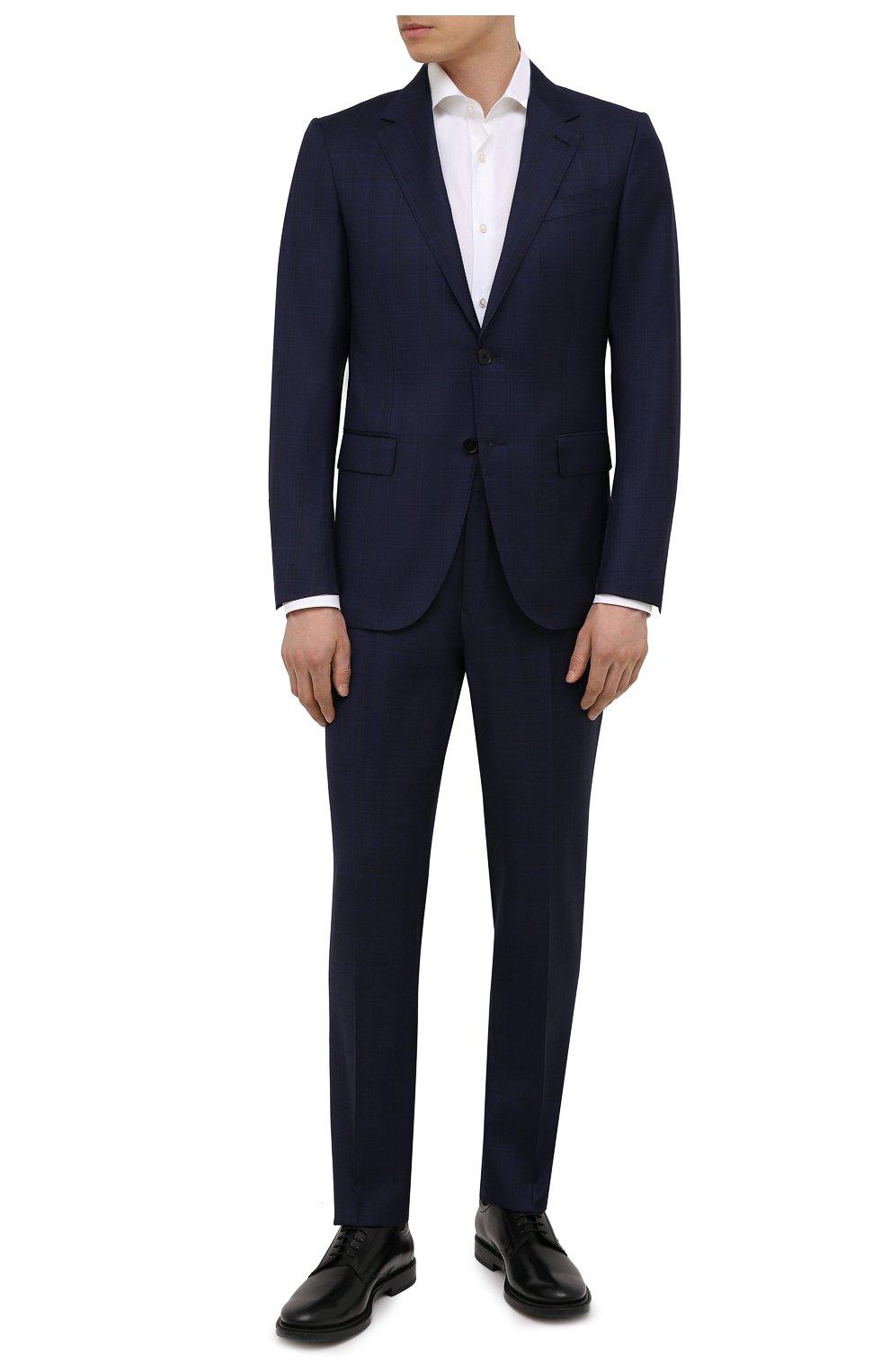 Мужские кожаные дерби TOD'S черного цвета, арт. XXM62C00C20LYG | Фото 2 (Материал внутренний: Натуральная кожа; Стили: Классический)
