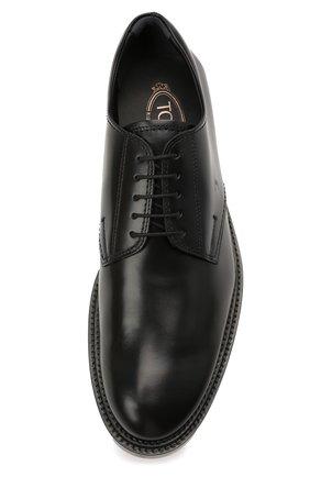 Мужские кожаные дерби TOD'S черного цвета, арт. XXM62C00C20LYG | Фото 5 (Материал внутренний: Натуральная кожа; Стили: Классический)