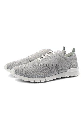 Мужские текстильные кроссовки KITON светло-серого цвета, арт. USSCLAWN00810 | Фото 1