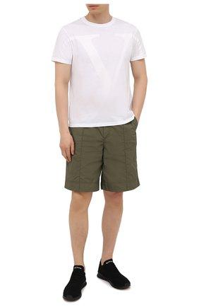 Мужские текстильные кроссовки KITON черного цвета, арт. USSFITBN00823 | Фото 2 (Материал внутренний: Натуральная кожа; Подошва: Массивная; Материал внешний: Текстиль; Стили: Спорт)