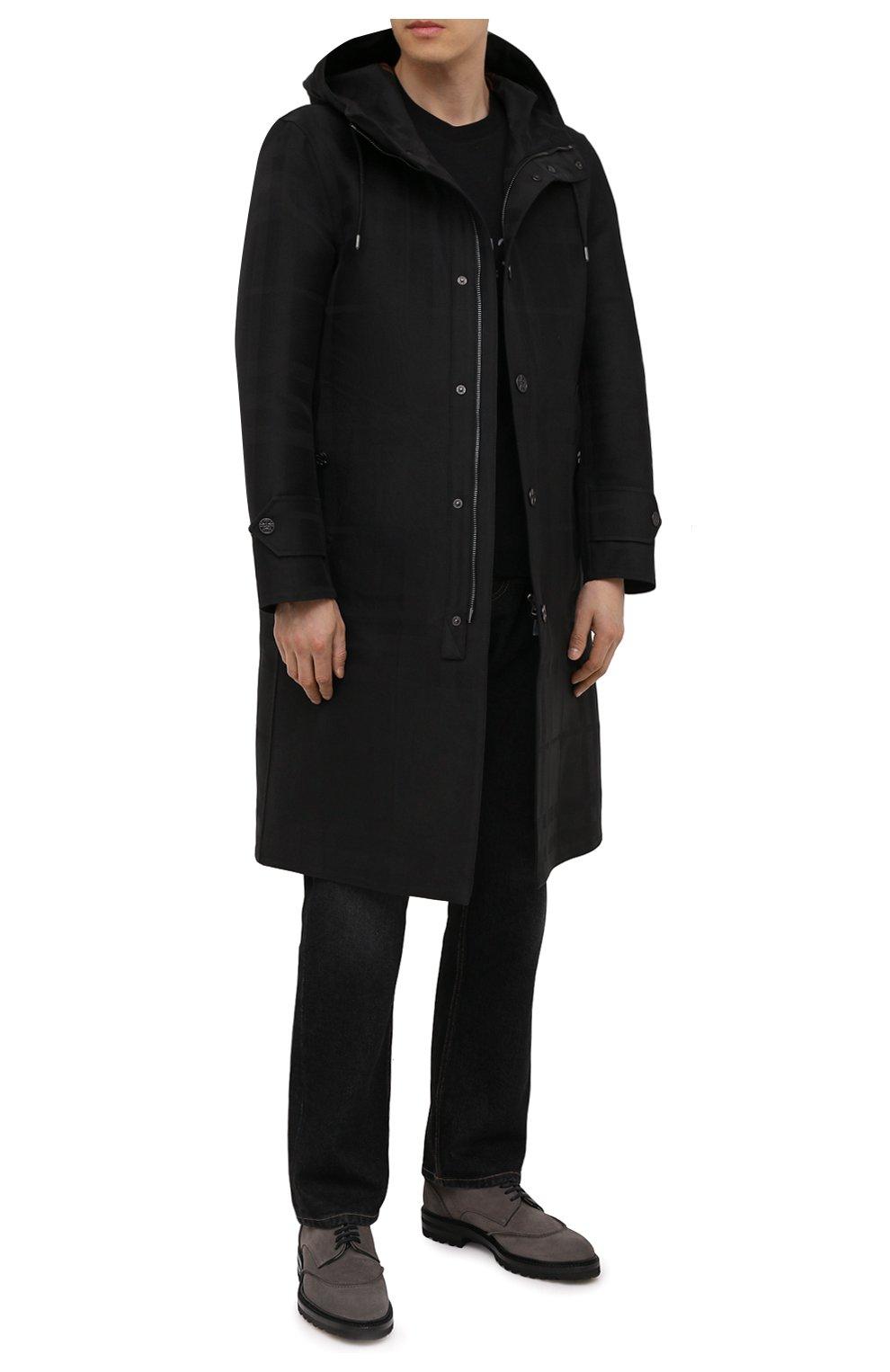 Мужские замшевые дерби KITON серого цвета, арт. USSGAUDN00689 | Фото 2