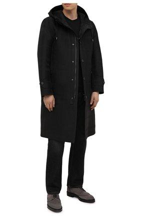 Мужские замшевые дерби KITON серого цвета, арт. USSGAUDN00689 | Фото 2 (Материал внутренний: Натуральная кожа; Стили: Классический)
