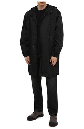 Мужские замшевые ботинки KITON серого цвета, арт. USSPETEN00689 | Фото 2 (Материал внутренний: Натуральная кожа; Мужское Кросс-КТ: Ботинки-обувь, Дезерты-обувь, зимние ботинки; Подошва: Плоская; Материал утеплителя: Натуральный мех; Материал внешний: Замша)