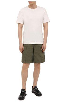Мужские комбинированные кроссовки KITON черного цвета, арт. USSVLAZN00696 | Фото 2 (Подошва: Массивная; Материал внутренний: Натуральная кожа)