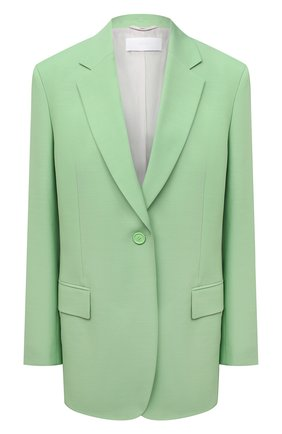 Женский жакет из вискозы и шерсти BOSS светло-зеленого цвета, арт. 50460450 | Фото 1