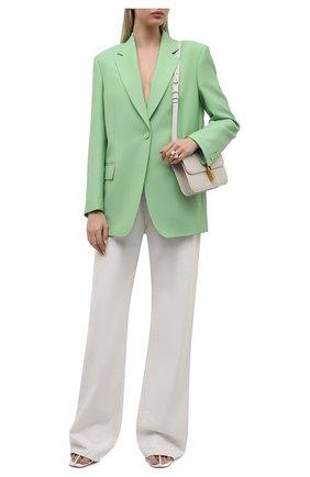 Женский жакет из вискозы и шерсти BOSS светло-зеленого цвета, арт. 50460450 | Фото 2