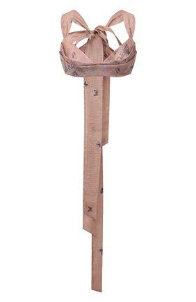 Женский бра-топ изо льна и шелка ZIMMERMANN розового цвета, арт. 1064TLMI   Фото 1
