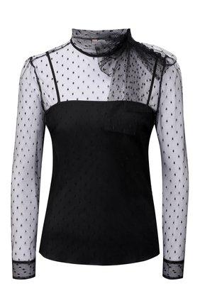 Женская блузка REDVALENTINO черного цвета, арт. WR3AB1Y0/1GK   Фото 1