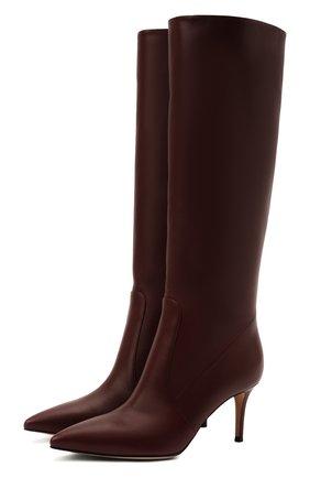 Женские кожаные сапоги hensen 70 GIANVITO ROSSI бордового цвета, арт. G80458.70RIC.VGIMERL | Фото 1