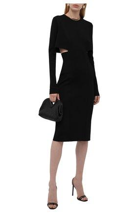 Женское платье из вискозы GIVENCHY черного цвета, арт. BW21694ZA1 | Фото 2