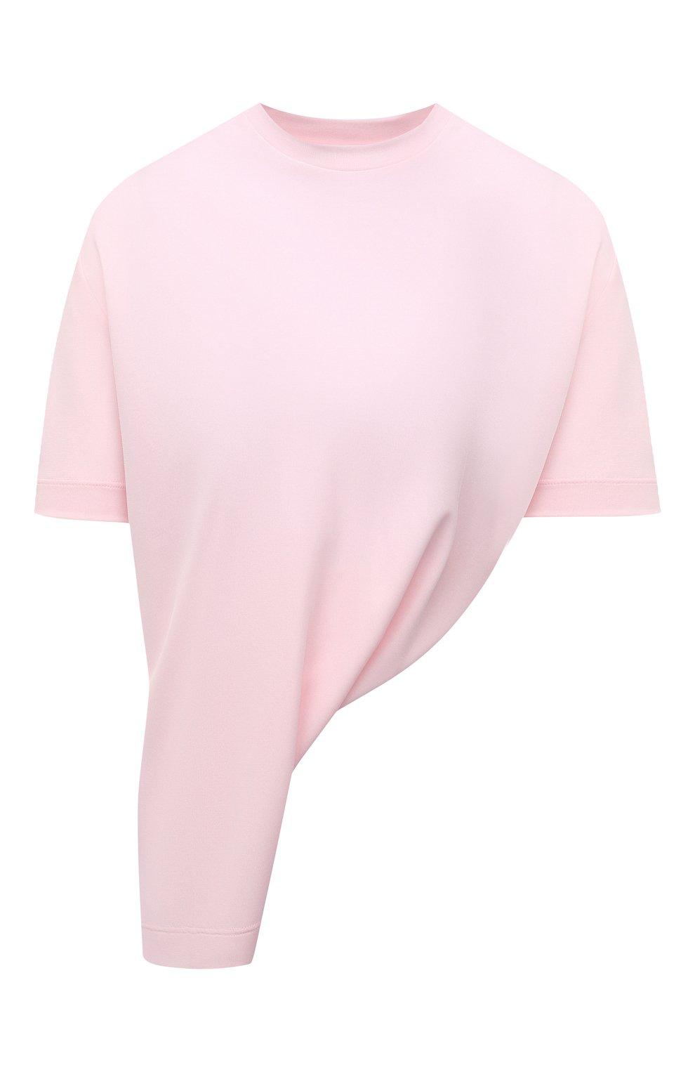 Женская футболка из вискозы GIVENCHY светло-розового цвета, арт. BW60U93047 | Фото 1