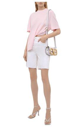 Женская футболка из вискозы GIVENCHY светло-розового цвета, арт. BW60U93047 | Фото 2