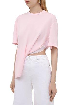 Женская футболка из вискозы GIVENCHY светло-розового цвета, арт. BW60U93047 | Фото 3