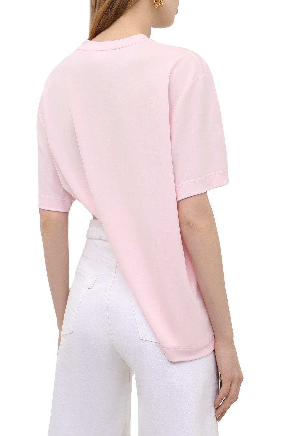 Женская футболка из вискозы GIVENCHY светло-розового цвета, арт. BW60U93047 | Фото 4