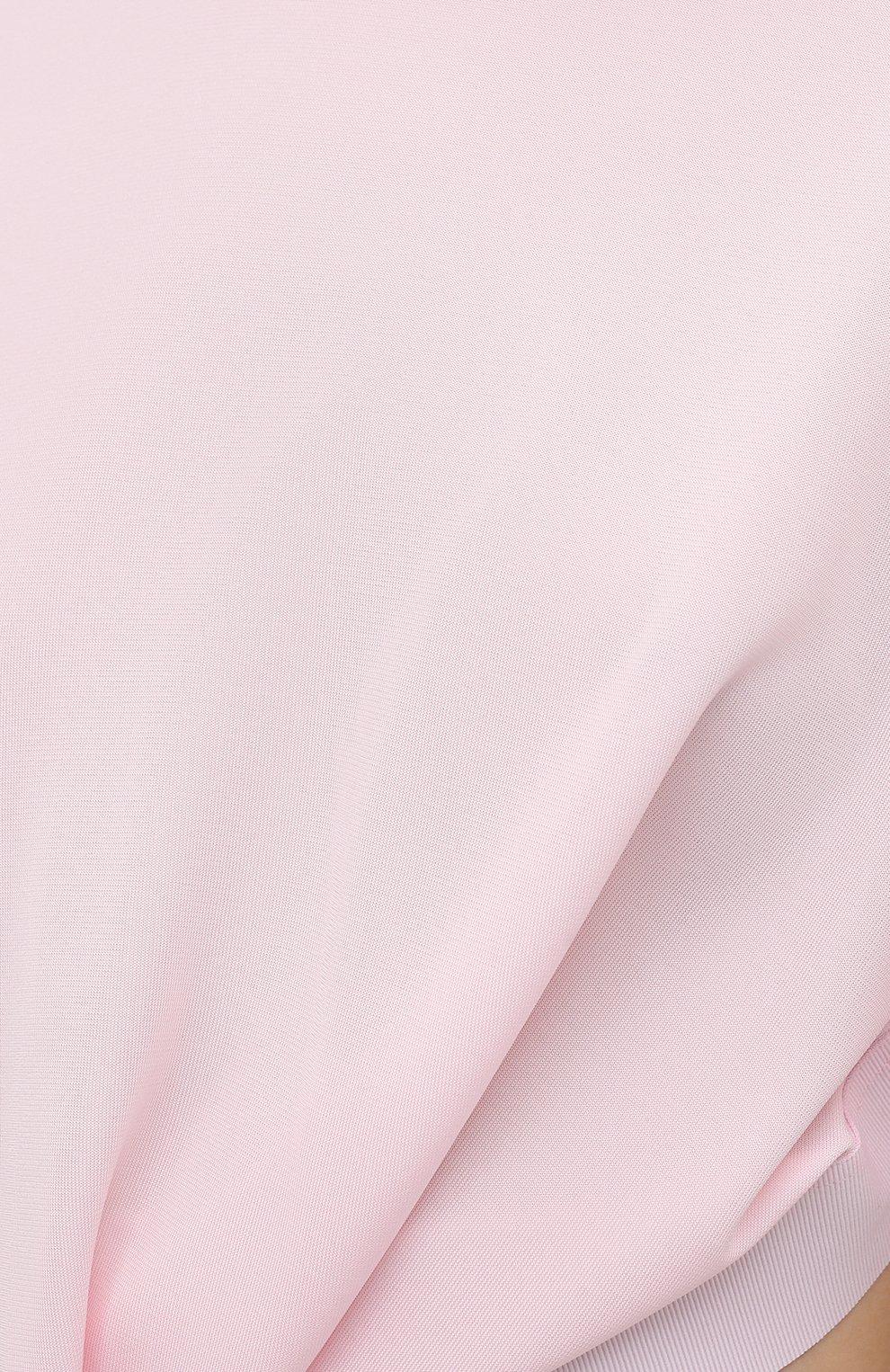 Женская футболка из вискозы GIVENCHY светло-розового цвета, арт. BW60U93047 | Фото 5