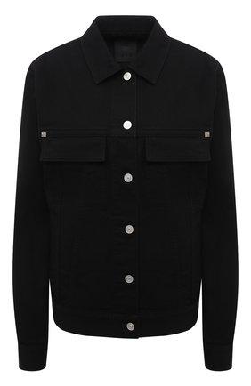 Женская джинсовая куртка GIVENCHY черного цвета, арт. BW00C350LP | Фото 1