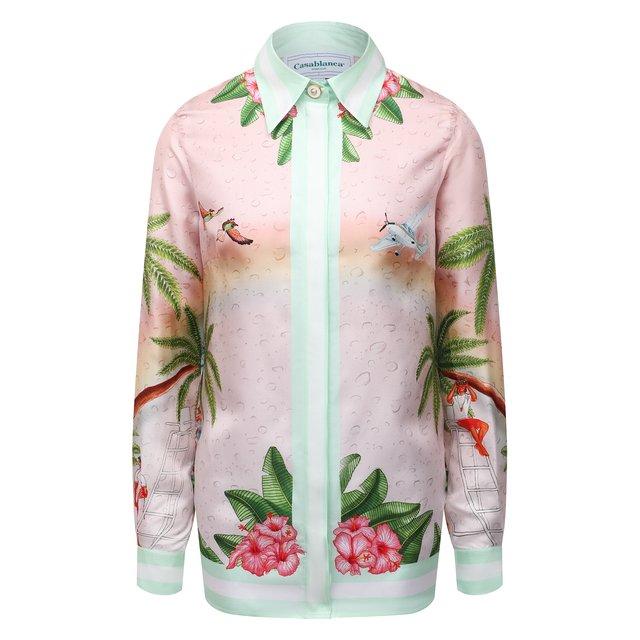 Шелковая рубашка Casablanca