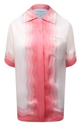 Женская шелковая рубашка CASABLANCA розового цвета, арт. WS21-SH-015 KAPALIA   Фото 1