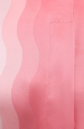 Женская шелковая рубашка CASABLANCA розового цвета, арт. WS21-SH-015 KAPALIA   Фото 5