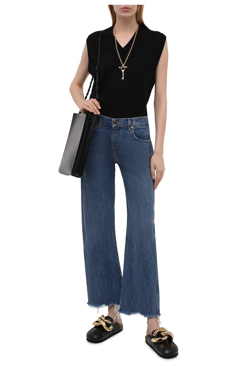 Женские кожаные сабо JW ANDERSON черного цвета, арт. AN35004A/12140 | Фото 2
