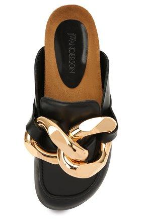 Женские кожаные сабо JW ANDERSON черного цвета, арт. AN35004A/12140 | Фото 5