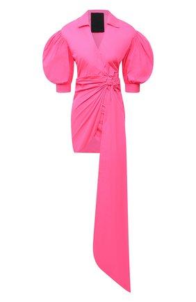 Женское платье REDVALENTINO фуксия цвета, арт. WR3VABB5/1FP   Фото 1 (Рукава: 3/4; Длина Ж (юбки, платья, шорты): Мини; Материал внешний: Синтетический материал; Женское Кросс-КТ: Платье-одежда; Стили: Гламурный; Случай: Вечерний)