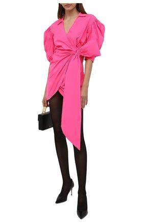 Женское платье REDVALENTINO фуксия цвета, арт. WR3VABB5/1FP   Фото 2 (Рукава: 3/4; Длина Ж (юбки, платья, шорты): Мини; Материал внешний: Синтетический материал; Женское Кросс-КТ: Платье-одежда; Стили: Гламурный; Случай: Вечерний)