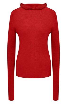Женская шерстяная водолазка JIL SANDER красного цвета, арт. JPPT754500-WTY20068   Фото 1
