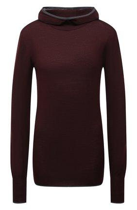 Женская шерстяная водолазка JIL SANDER темно-коричневого цвета, арт. JPPT754502-WTY21288 | Фото 1 (Длина (для топов): Стандартные; Рукава: Длинные; Материал внешний: Шерсть; Стили: Кэжуэл; Женское Кросс-КТ: Водолазка-одежда)