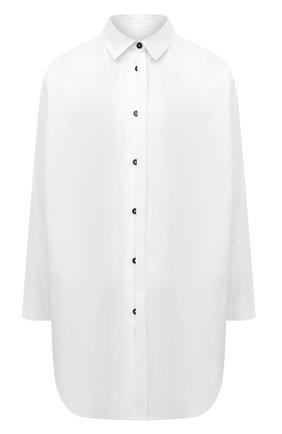Женская хлопковая рубашка JIL SANDER белого цвета, арт. JSCT603105-WT244200 | Фото 1 (Материал внешний: Хлопок; Рукава: Длинные; Женское Кросс-КТ: Рубашка-одежда; Принт: Без принта; Стили: Кэжуэл)