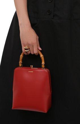 Женская сумка goji JIL SANDER красного цвета, арт. JSPT851578-WTB00080N   Фото 2
