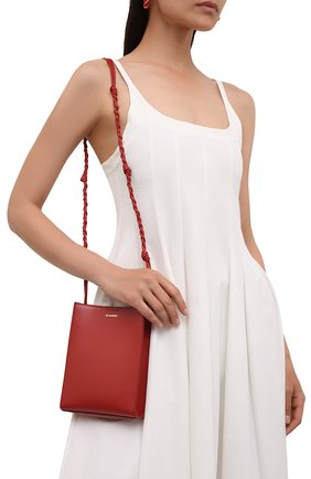 Женская сумка tangle small JIL SANDER красного цвета, арт. JSPT853173-WTB69158N   Фото 2
